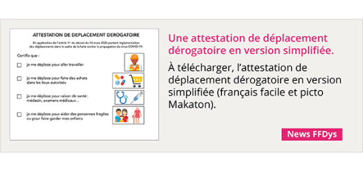 Télécharger une attestation de déplacement dérogatoire en version simplifiée