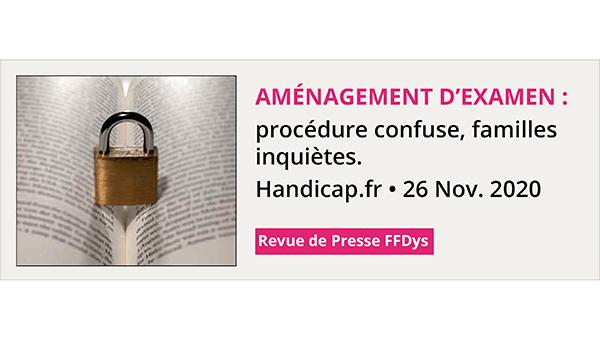 Aménagement d'examen : procédure confuse, familles inquiètes - Handicap.fr