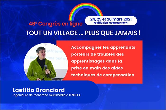 24 au 26 mars Congrès en ligne Tout un village plus que jamais! dédié aux troubles d'apprentissage