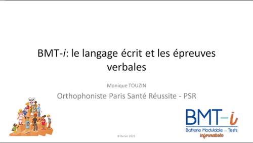 BMT-i: le langage écrit et les épreuves verbales