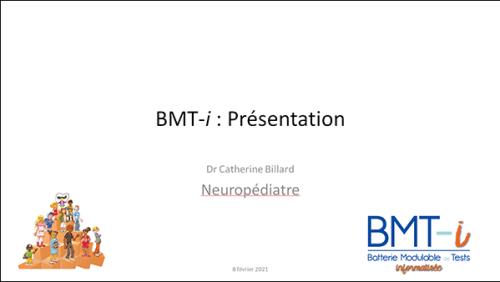 """Présentation du webinaire """"Découvrir la BMT-i"""""""