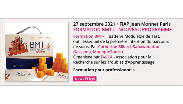 27 septembre 2021 • FIAP Jean Monnet Paris FORMATION BMT-i - Nouveau programme