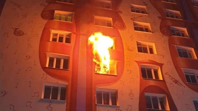 Brand in Hochhaus in Wienerstraße Kapfenberg