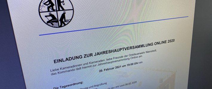 Premiere: Erste Online-Jahreshauptversammlung am 20. Februar