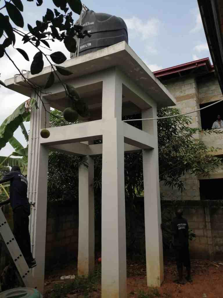 water tank on platform