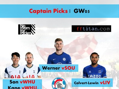 FPL GW05 Captain Picks