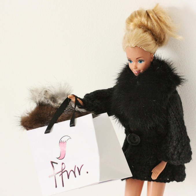 Barbie Ffwr Real fur for dolls