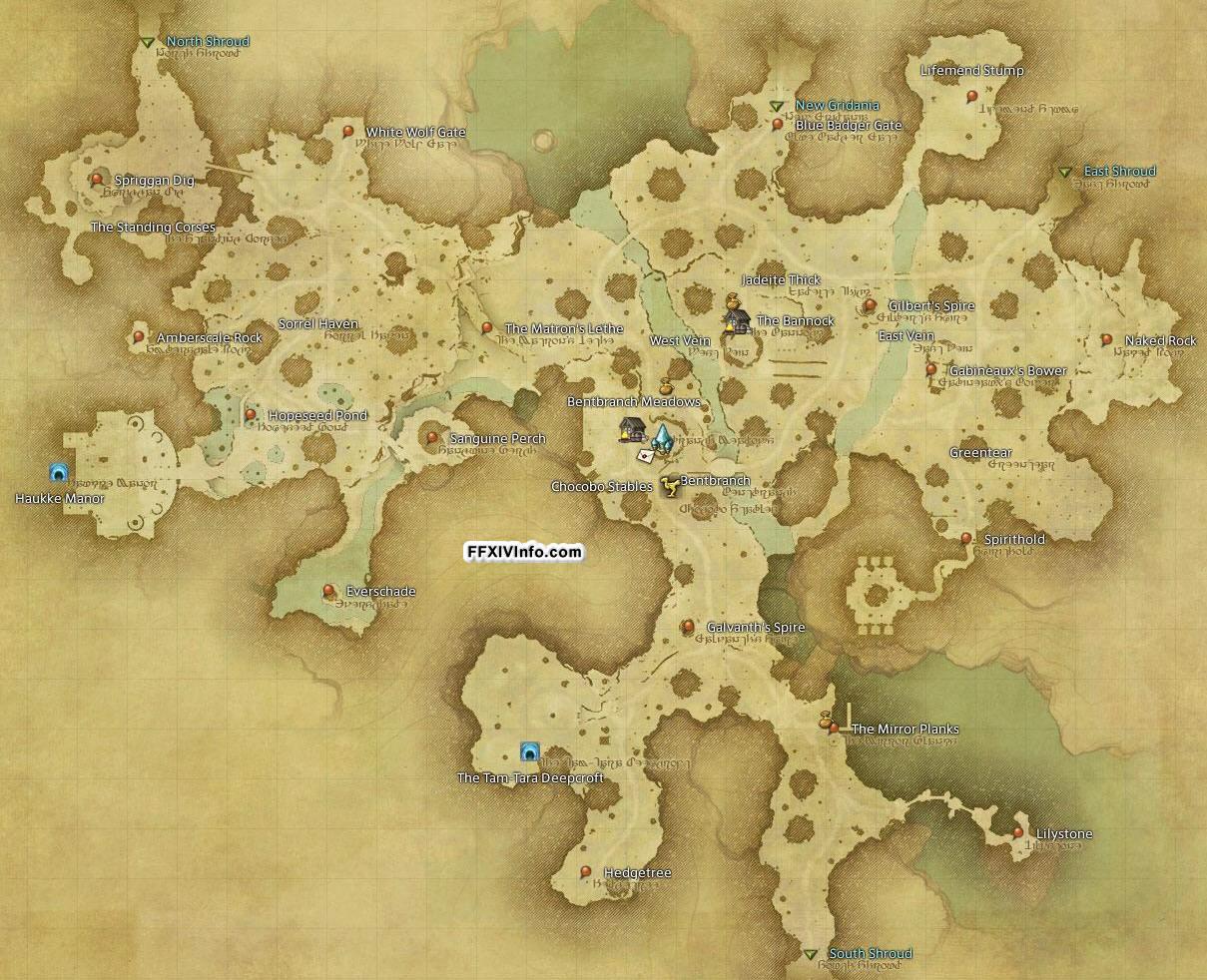 Central Shroud The Black Shroud Maps FFXIV A Realm