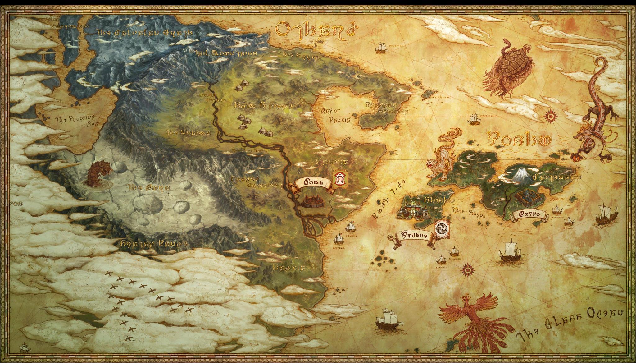Far East Maps FFXIV Stormblood Info