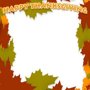 Free Thanksgiving Borders Happy Border Clip Art Larger Print Version