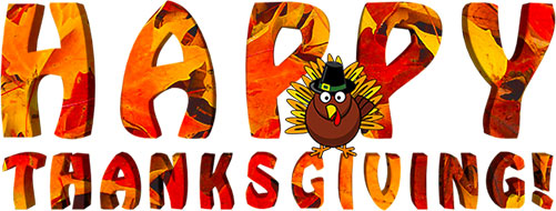 Free Thanksgiving Clipart - Thanksgiving Animations (501 x 190 Pixel)