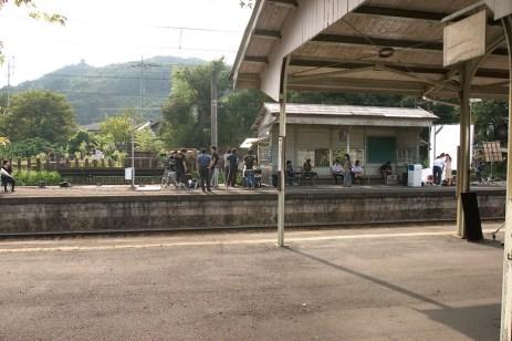 Incroyable, dans la petite gare de KamiNagatoro