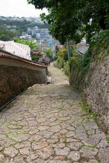 Vieille rue conservée près de Shuri
