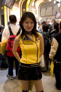 Race Queen du stand Dunlop