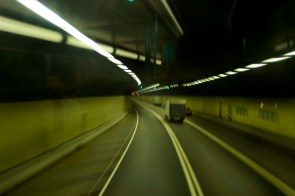 Couloir de tunnel dans le centre de Hong Kong