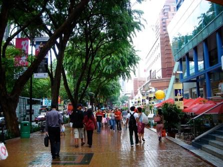 Orchard Road et ses galeries commerciales