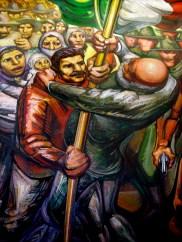 Grande Peinture murale de Siqueiros à l'intérieur de la demeure