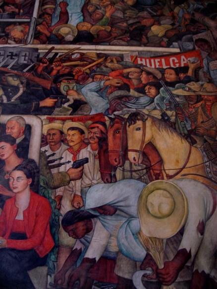 A l'intérieur du Palacio National, une grande fresque de Diego Rivera