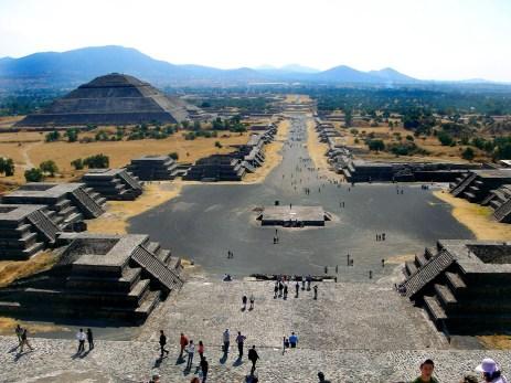 Vue sur le site de Teotihuacan