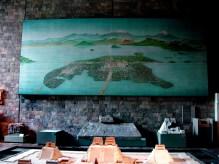 Une représentation de Tenochtitlán, la grande ville aztèque devenue Mexico. Elle est construite en grande partie sur les eaux d'un lac.
