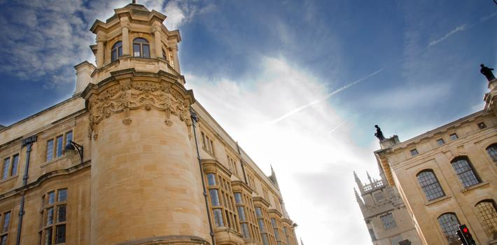 Oxford buildings and sky view
