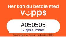Her kan du betale med vipps til nummer 050505