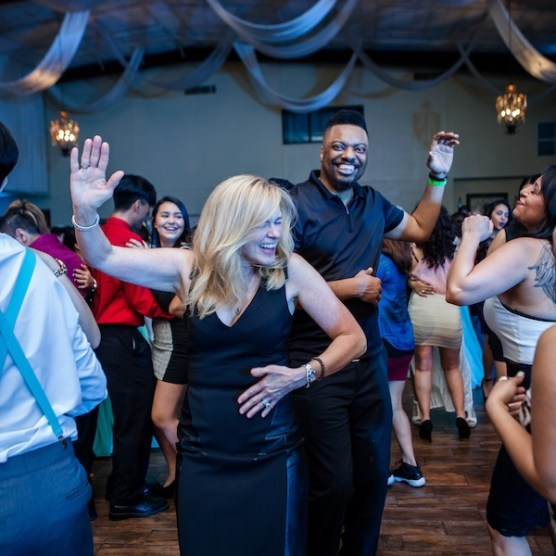The Guests are Dancing and being a fun part of the Quinceanera