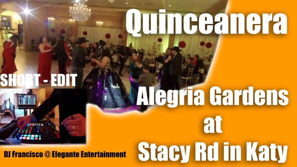 Alegria Gardens Katy TX – Stacy Quinceanera DJ