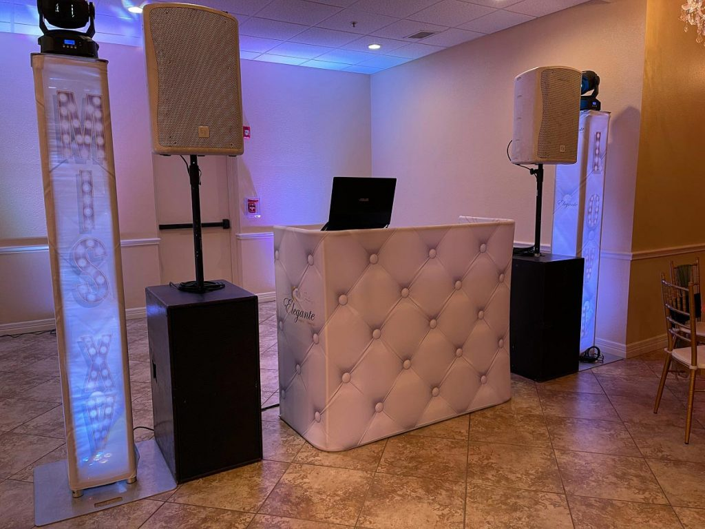 Quinceanera DJ Set up Elegantte