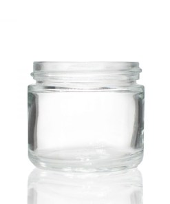 2 oz 53-400 Clear Glass Straight-Sided Round Jar