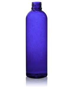4 oz PET Cobalt Blue Cosmo Round Bottle with 20-410 Neck Finish
