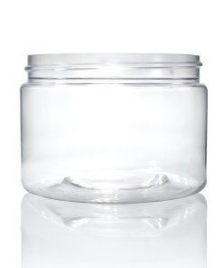 12 oz Clear PET Straight Sided Jar 89-400 Neck Finish