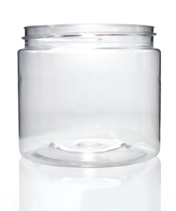 16 oz Clear PET Straight Sided Jar