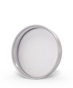48-400 Silver Aluminum Screw Top Cap-Bottom