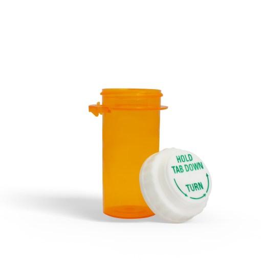 10 Dram Amber Prescription Bottle