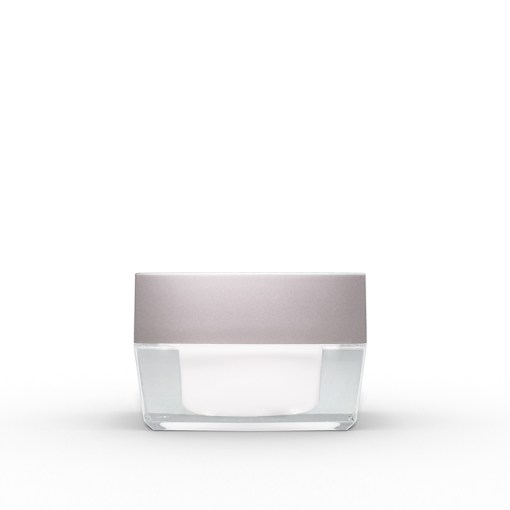 15g Square Acrylic Jar with Silver Lid