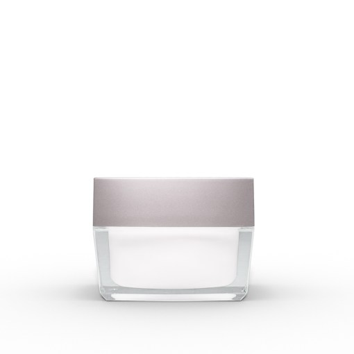 30g Square Acrylic Jar with Silver Lid