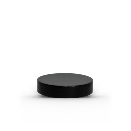 Black 48-400 PP Smooth Skirt Lid with Foam Liner