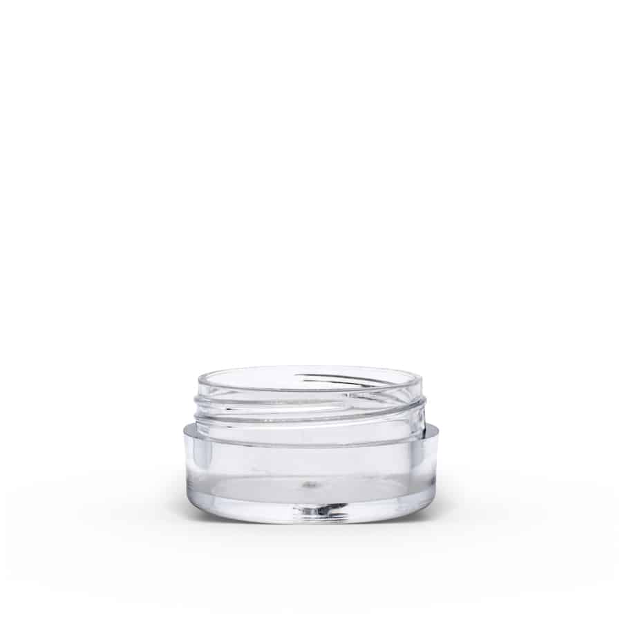 5g Clear Polystyrene Plastic Jar With Lid (Set) | FH Packaging
