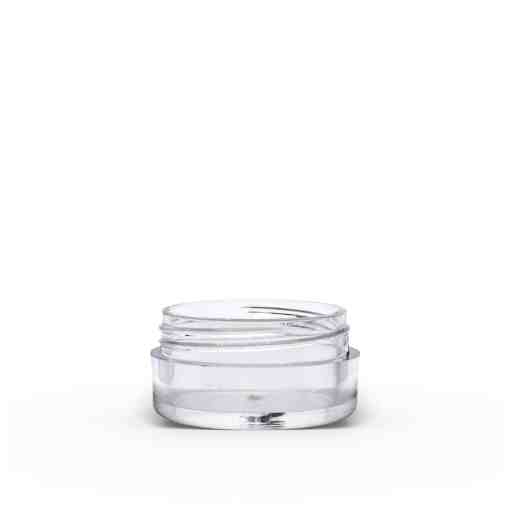 5g Clear Polystyrene Plastic Jar with Lid (Set)