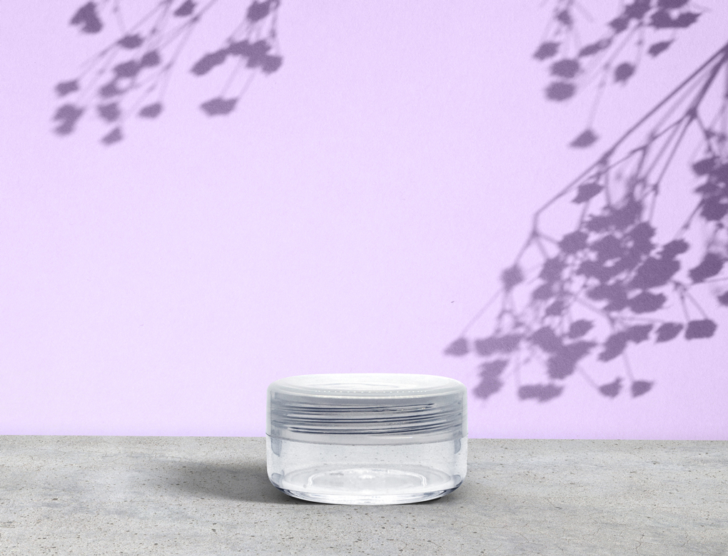 Clear Polystyrene Glass Jars