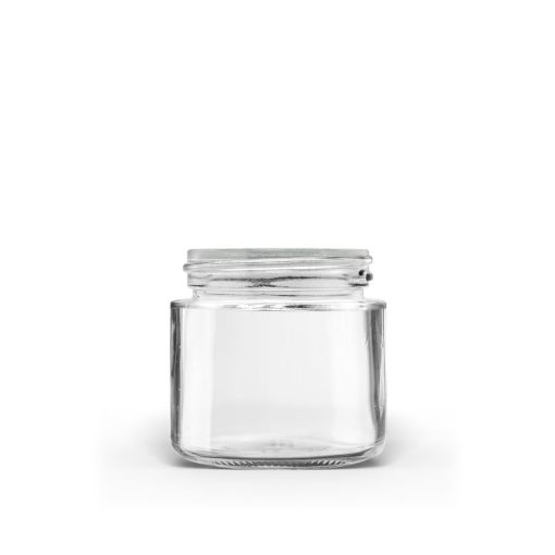 1 oz 38-400 Clear Glass Straight-Sided Round Jar