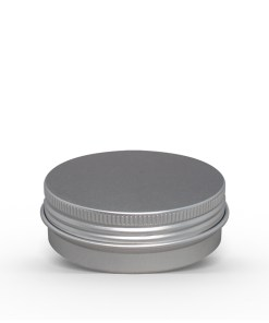 3 oz Aluminum Tin Jar with Screw On Lid