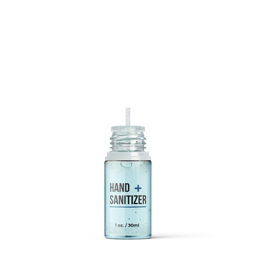 30 ml PET Hand Sanitizer Bottle with Clear Flat Cap and Pre-Inserted Tip