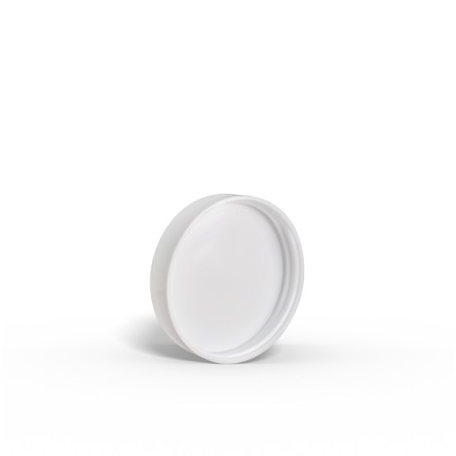 53-400-white-smooth-skirt-lid-with-pressure-sensitive-ps-liner