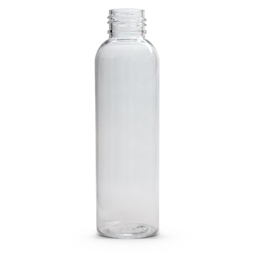 Clear 4 oz PET Cosmo Round Bottle with 24-410 Neck Finish