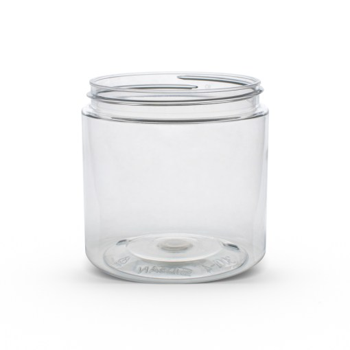 19 oz Clear PET Straight Sided Jar 89-400 Neck Finish