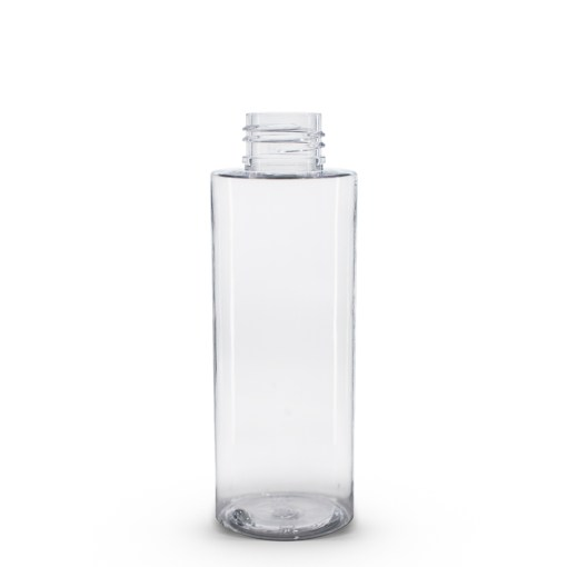 4 oz PET Clear Cylinder Bottle with 24-410 Neck Finish
