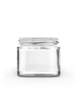 60g 50-400 Clear Glass Straight-Sided Round Jar