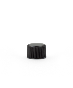 20-400 Black Plastic Screw Top Cap with Liner